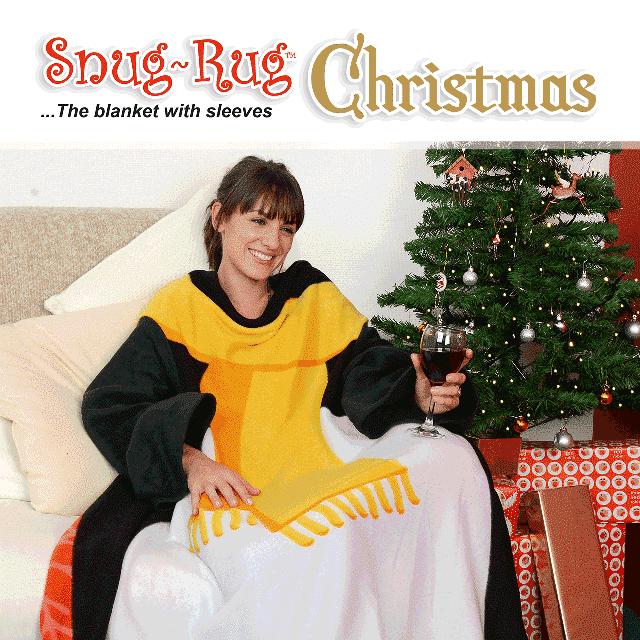 Snug-Rug™ Penguin Christmas Blanket
