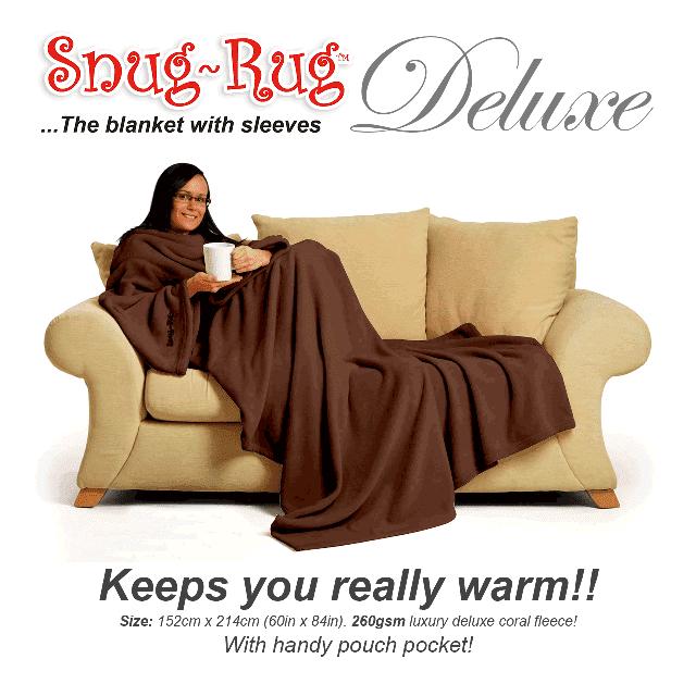 Chocolate Snug-Rug™ Deluxe Blanket