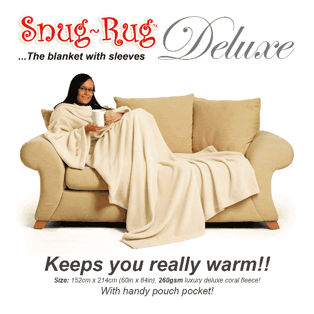 Cream Snug-Rug™ Deluxe Blanket