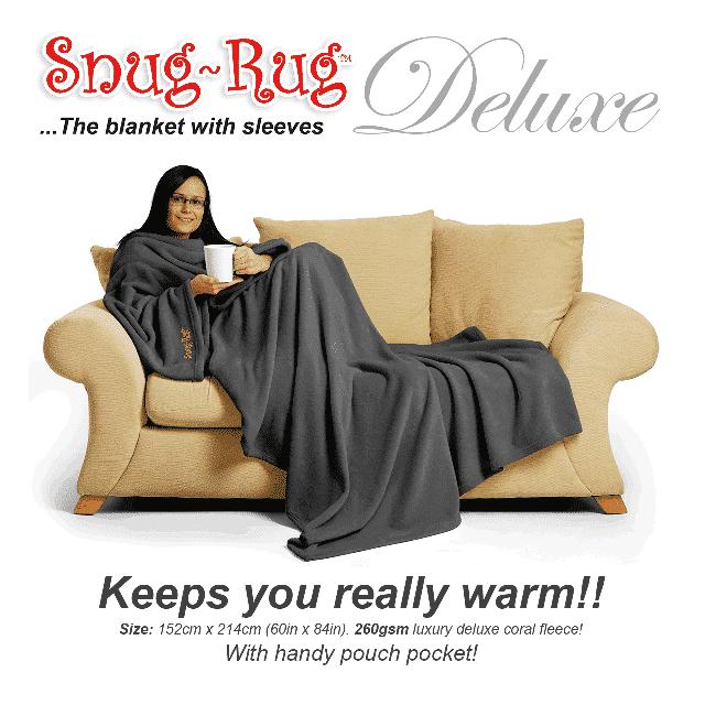 Grey Snug-Rug™ Deluxe Blanket