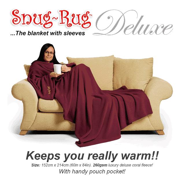Mulberry Red Snug-Rug™ Deluxe Blanket