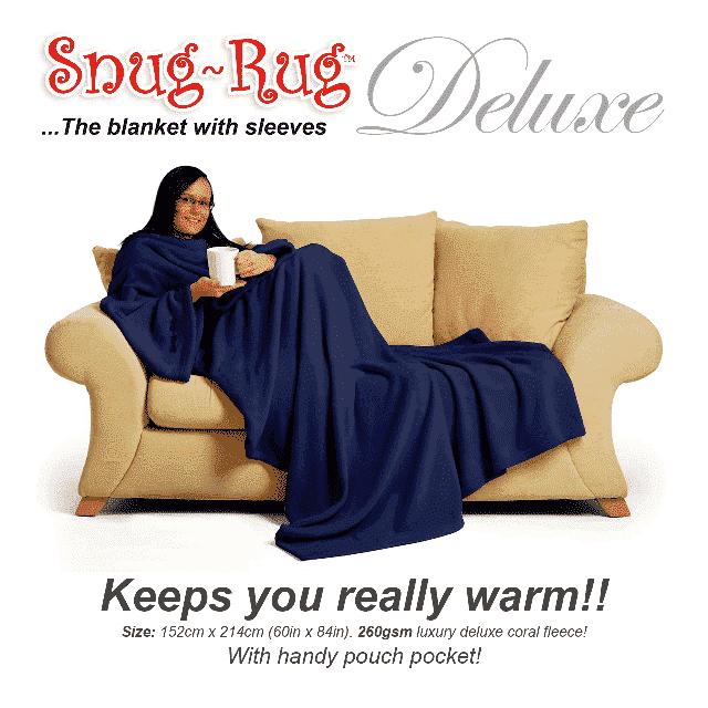 Navy Snug-Rug™ Deluxe Blanket