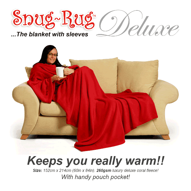 Red Snug-Rug™ Deluxe Blanket