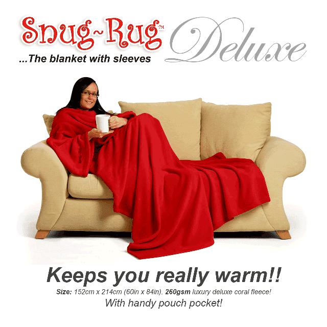 Red Snug-Rug™ Deluxe Blanket