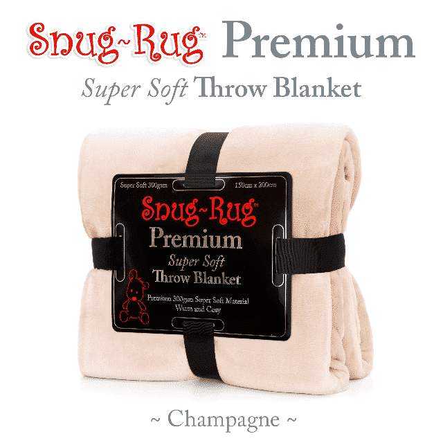 Champagne Snug-Rug™ Premium Throw Blanket