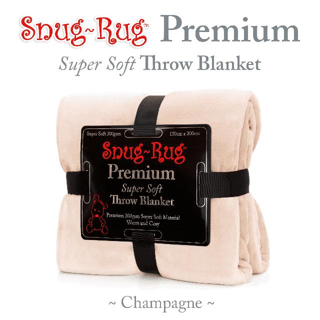 Champagne Snug-Rug™ Premium Throw Blanket
