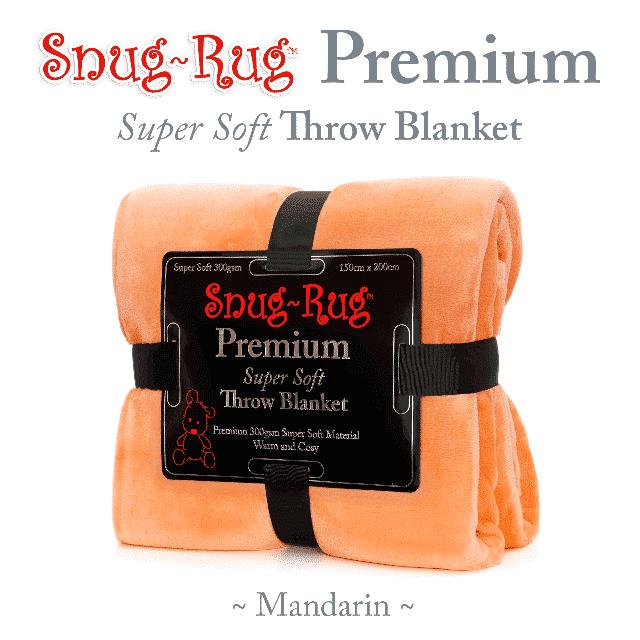 Mandarin Snug-Rug™ Premium Throw Blanket