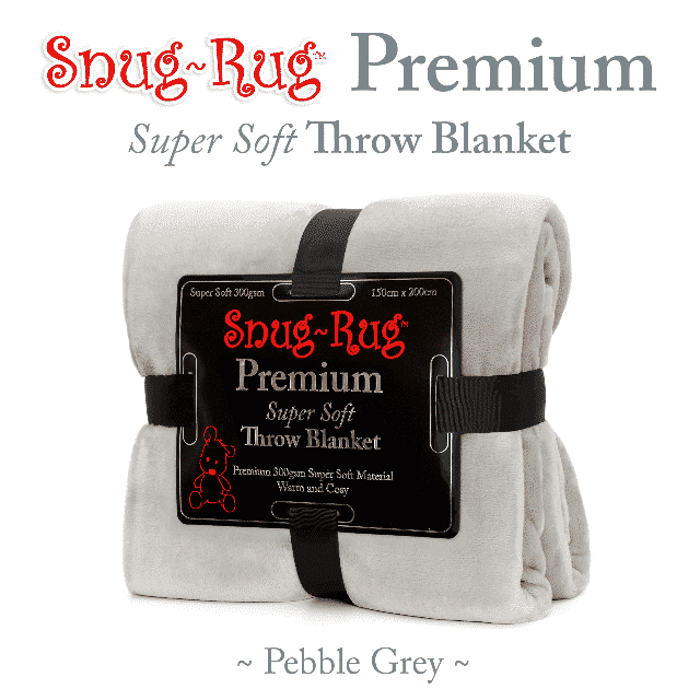 Pebble Grey Snug-Rug™ Premium Throw Blanket