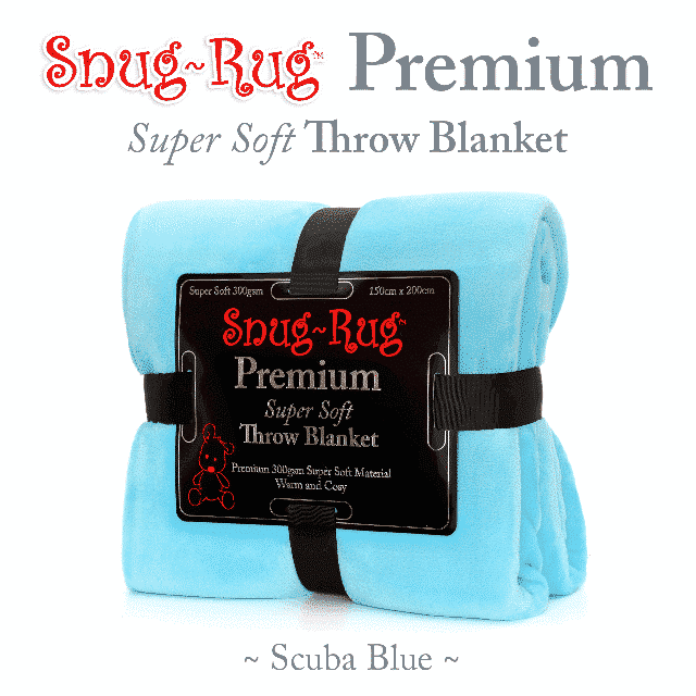 Scuba Blue Snug-Rug™ Premium Throw Blanket