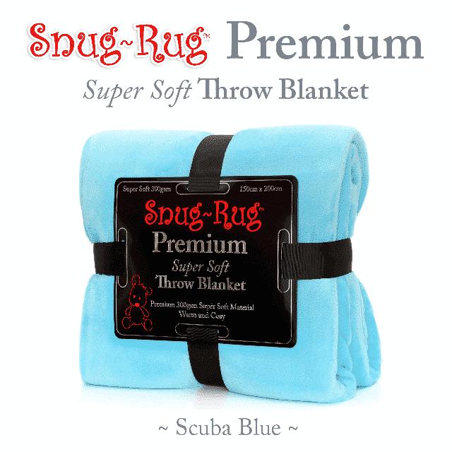 Scuba Blue Snug-Rug™ Premium Throw Blanket