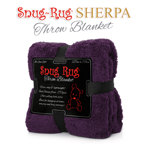 Purple Snug-Rug™ Sherpa Throw Blanket