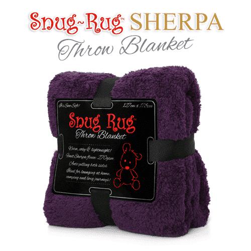 Purple Snug-Rug™ Sherpa Throw Blanket