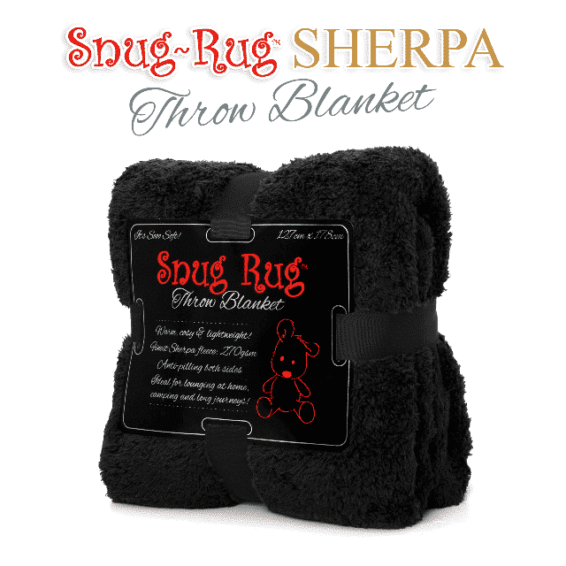 Black Snug-Rug™ Sherpa Throw Blanket