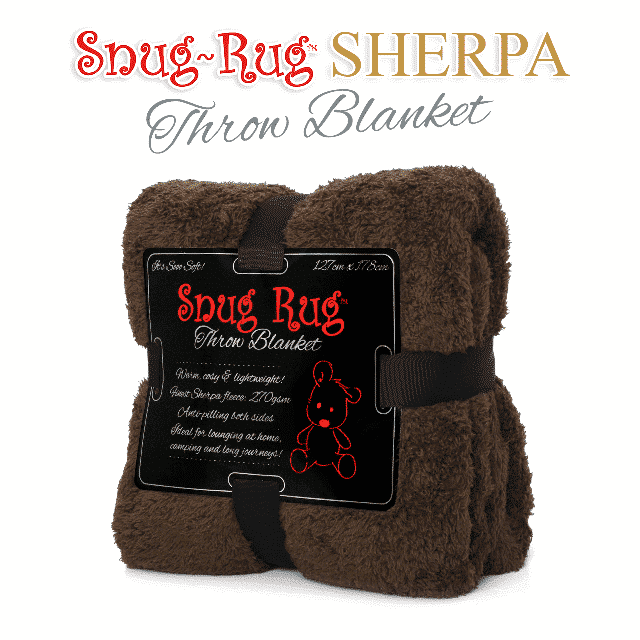 Chocolate Snug-Rug™ Sherpa Throw Blanket