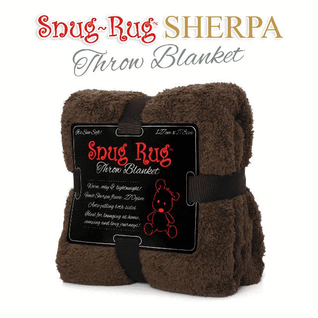 Chocolate Snug-Rug™ Sherpa Throw Blanket
