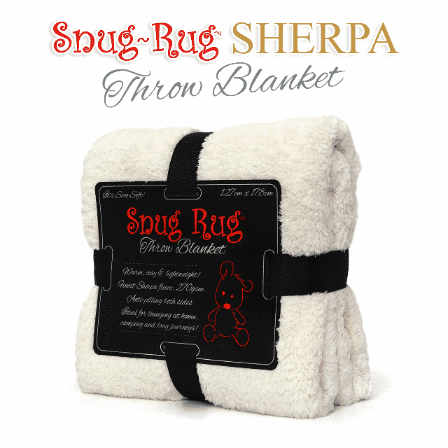 Cream Snug-Rug™ Sherpa Throw Blanket