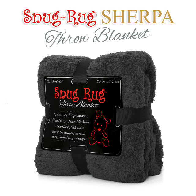 Grey Snug-Rug™ Sherpa Throw Blanket