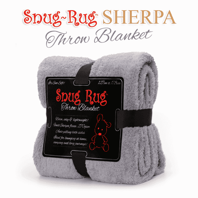 Lilac Grey Snug-Rug™ Sherpa Throw Blanket