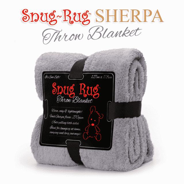 Lilac Grey Snug-Rug™ Sherpa Throw Blanket
