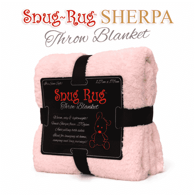 Pink Quartz Snug-Rug™ Sherpa Throw Blanket