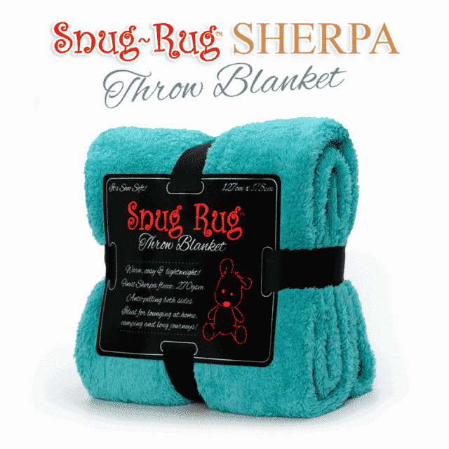 Teal Snug-Rug™ Sherpa Throw Blanket