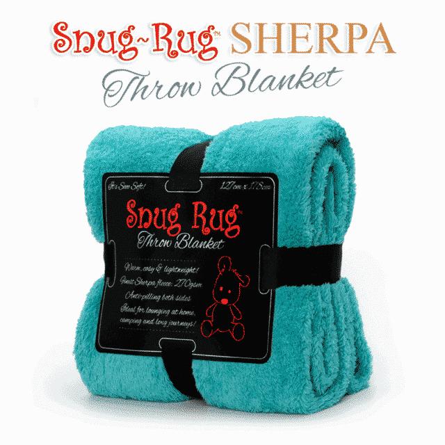 Teal Snug-Rug™ Sherpa Throw Blanket