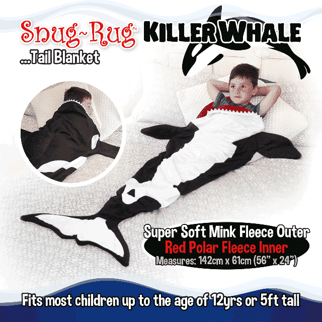 Snug-Rug™ Killer Whale Tail Blanket